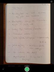 Handschriftliches Dokument in Evernote ablegen