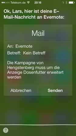 Apples Siri mit Evernote nutzen