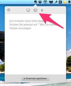 Evernote Screenshot erstellen