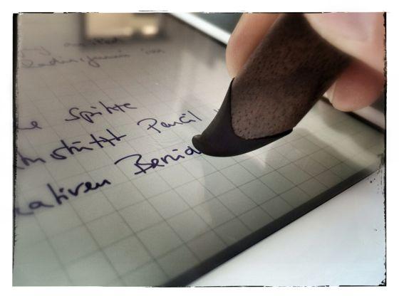 Stylus für Handschrift auf dem iPad