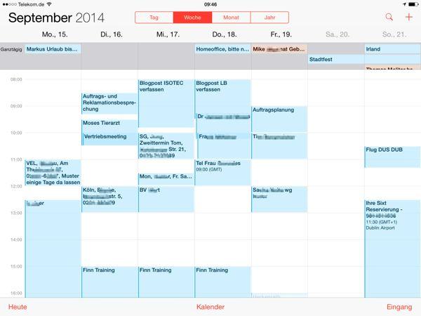 Gutes Kalender App für das iPad