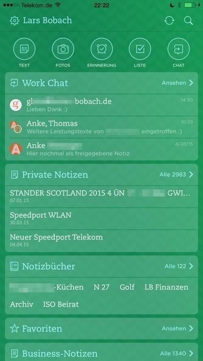 Die besten Apps fürs iPhone mit Evernote