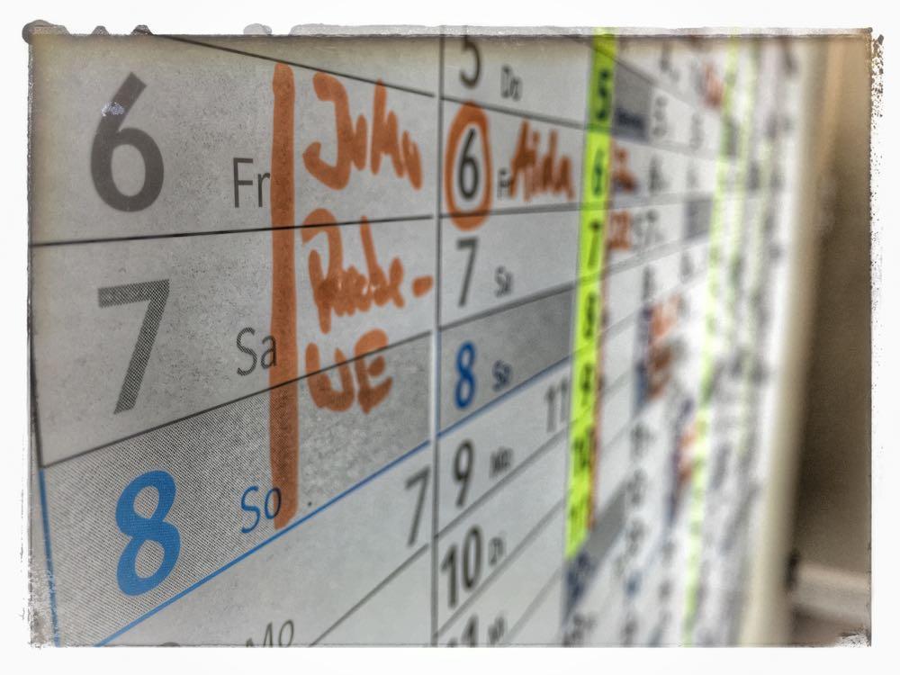 Der Jahreskalender als Produktivitätstool