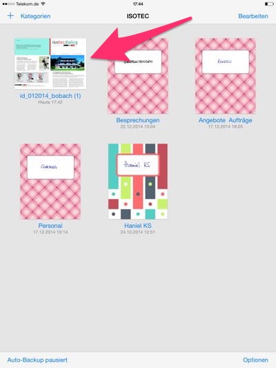 GoodNotes auf dem iPad zum anmontieren von pdfs nutzen
