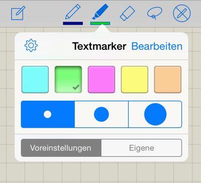 Anleitung zu GoodNotes für das iPad