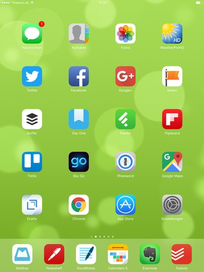 iPad Homescreen von Lars Bobach