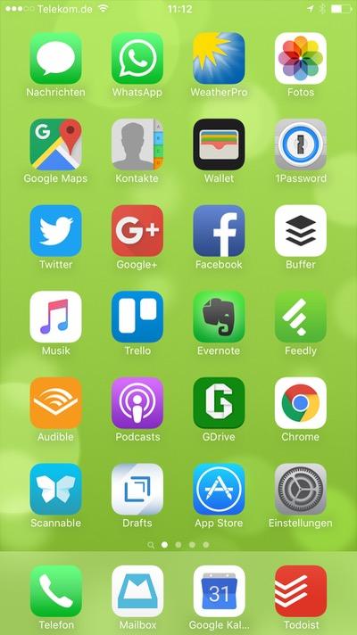 iPhone Homescreen von Lars Bobach