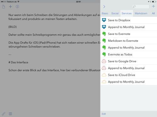Drafts die beste App für schnelle Notizen auf dem iPad