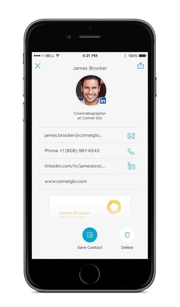 App um Visitenkarten einzuscannen mit dem iPhone