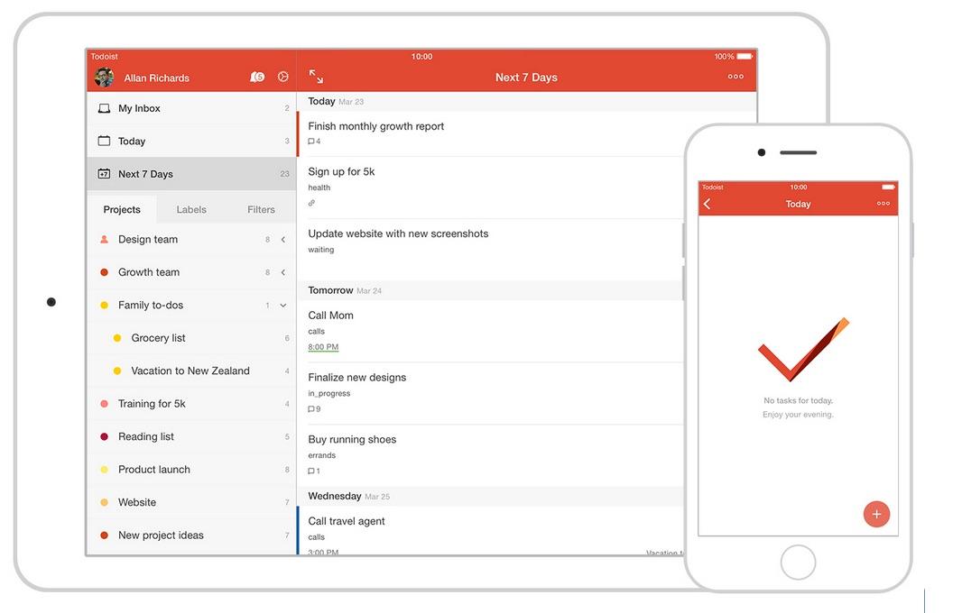Neue Funktionen von ToDoist 10 iOS