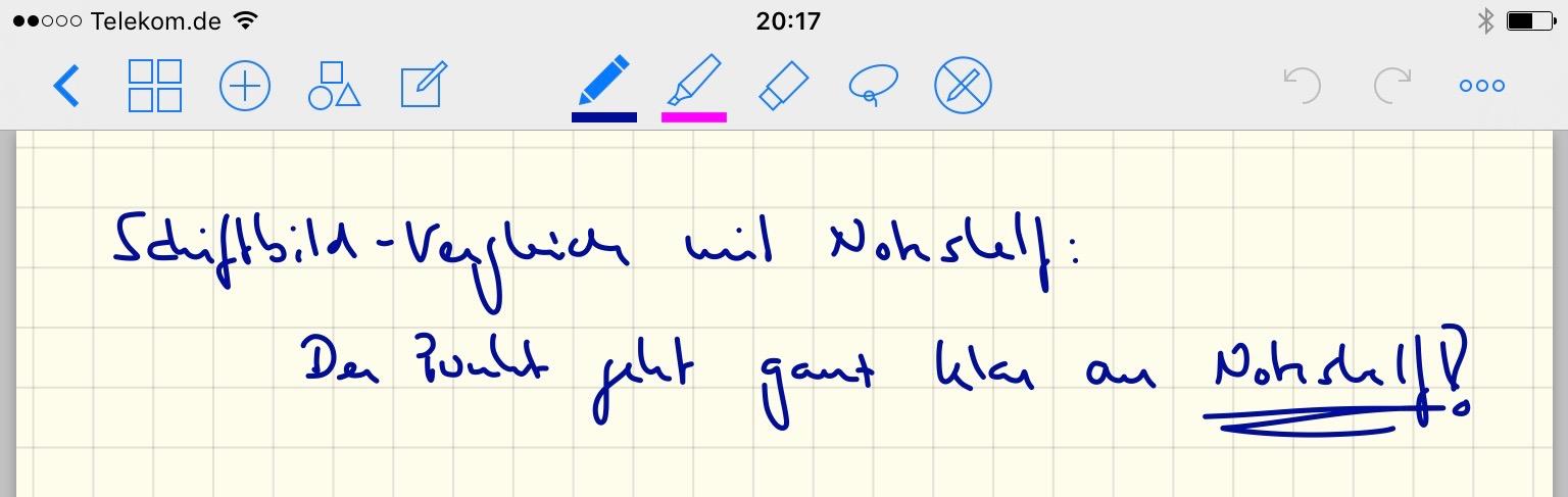 Vergleichstest GoodNotes und Noteshelf
