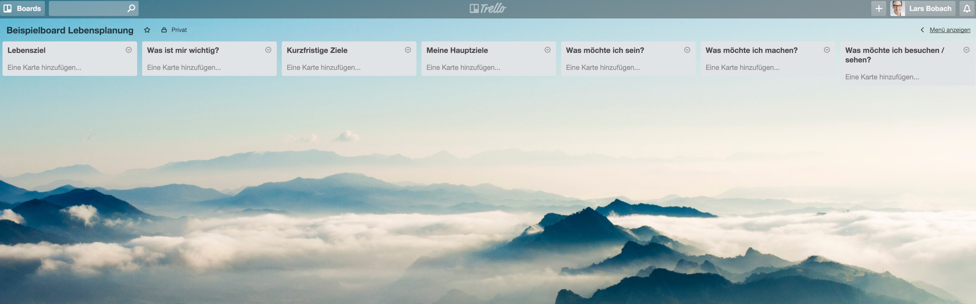 Lebenziele und -träume mit Trello erreichen