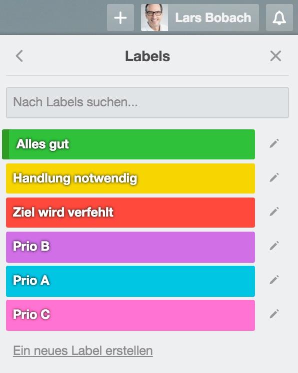 Trello Labels richtig nutzen