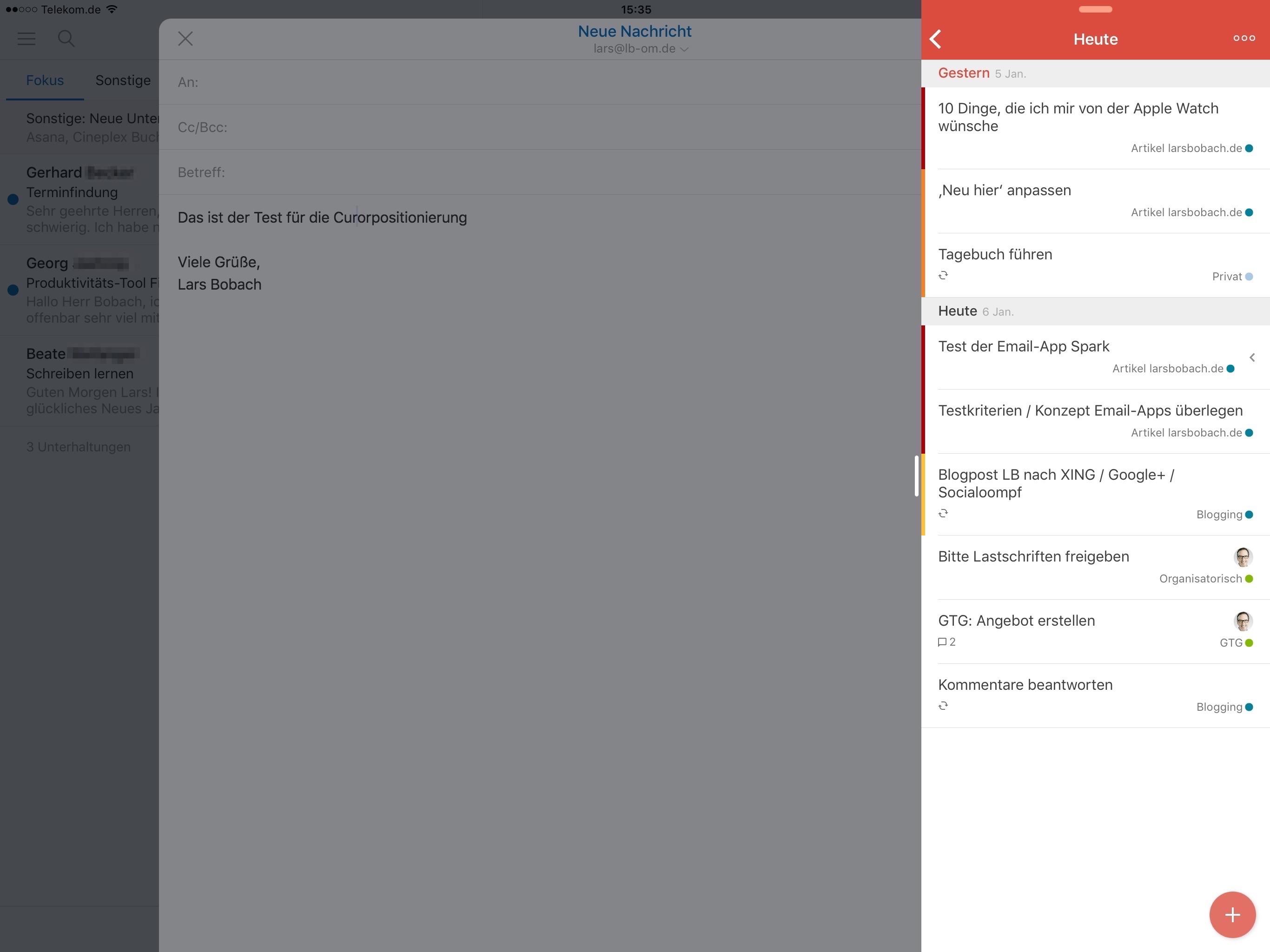 Wie funktioniert slide over auf dem iPad
