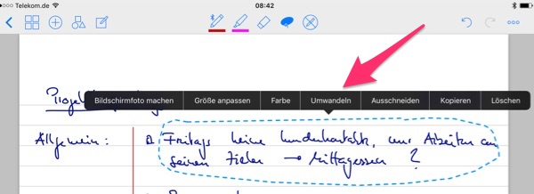 Handschrifterkennung in GoodNotes erklärt
