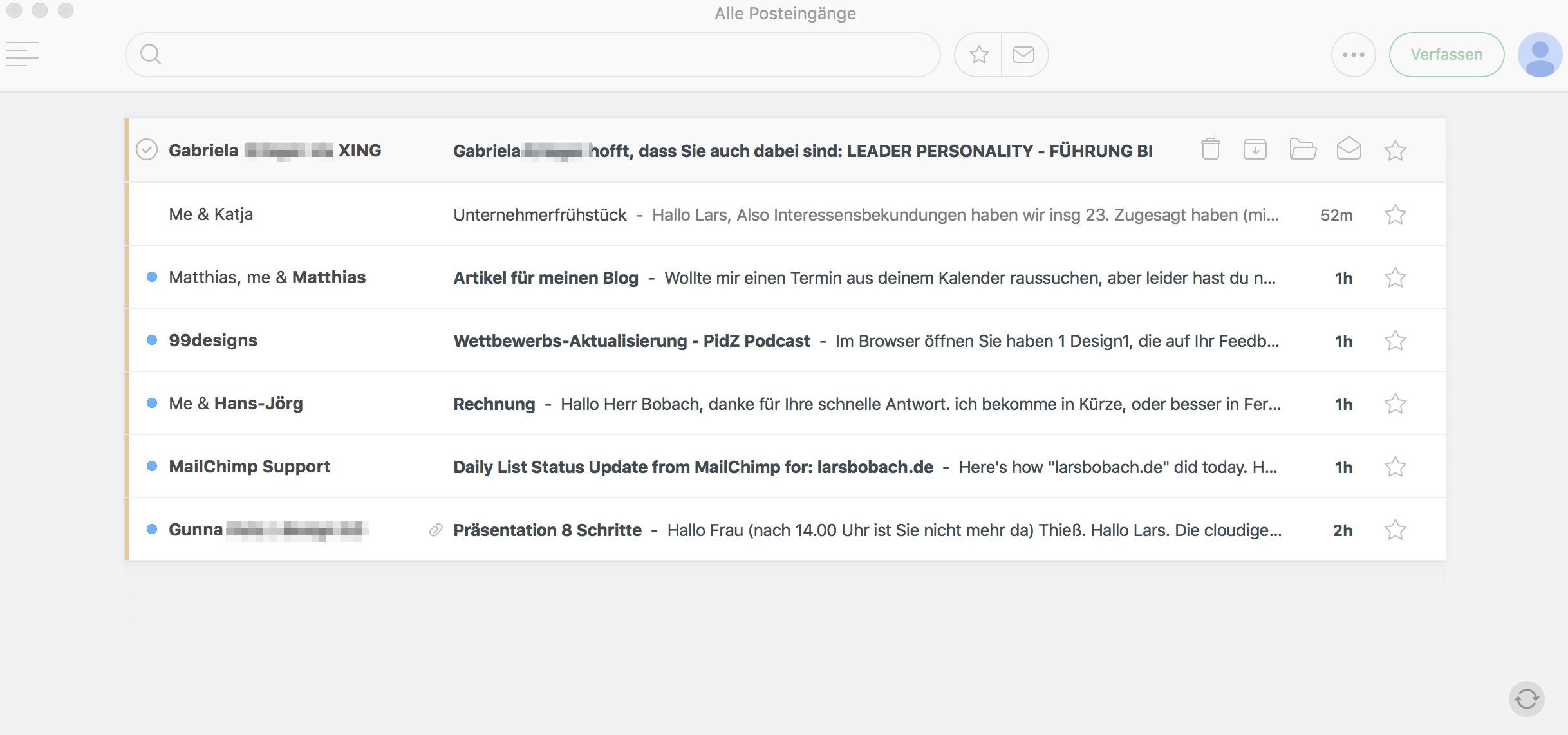 Vergleich von Email Apps für das iPhone