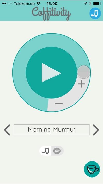 App mit Hintergrundgeräuschen zum Arbeiten