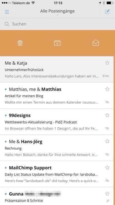 Cloudmagic als einfache Email App für das iPhone