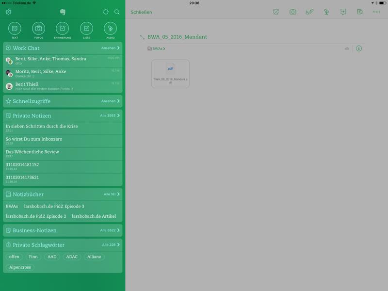 Evernote als beste App fürs iPad