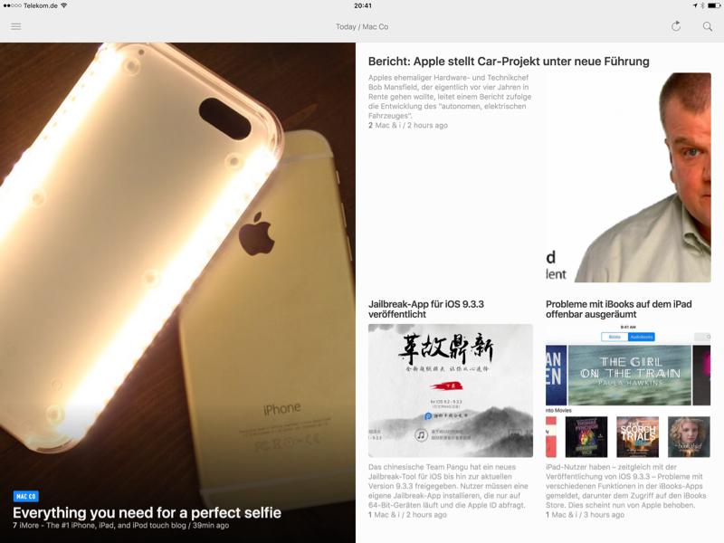 Blogs lesen auf dem iPad
