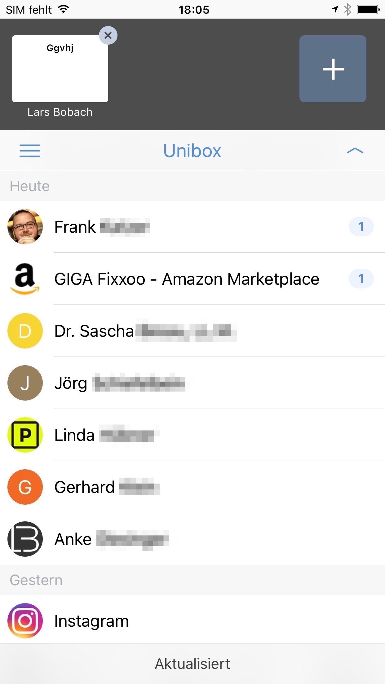 Vergleich Email apps für das iphone
