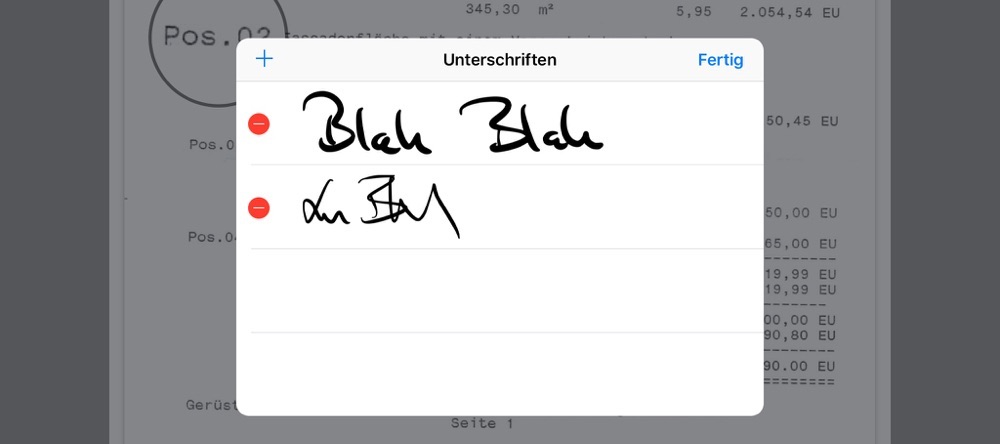 pdfs auf dem iPad unterschreiben