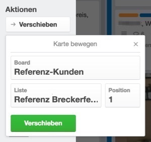 Referenzdatenbank in Trello