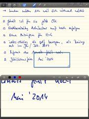 GoodNotes für Handschrift mit iPad nach Evernote