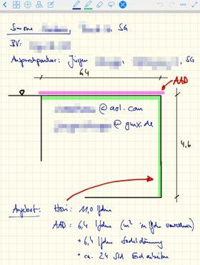 GoodNotes auf dem iPad für Grundrisse nutzen
