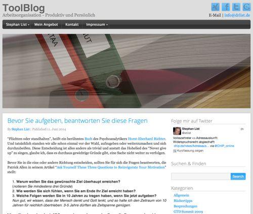 Blogempfehlungen zum Thema Arbeitsorganisation