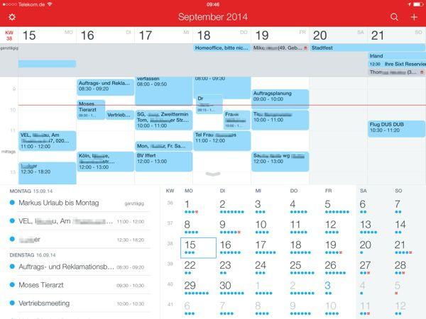 Vergeich der Kalender Apps für das iPad