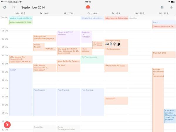Vergleichstest der besten Kalender Apps für das iPad