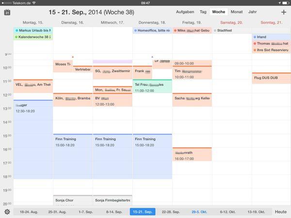 Vergleichstest der Kalender Apps für das iPad