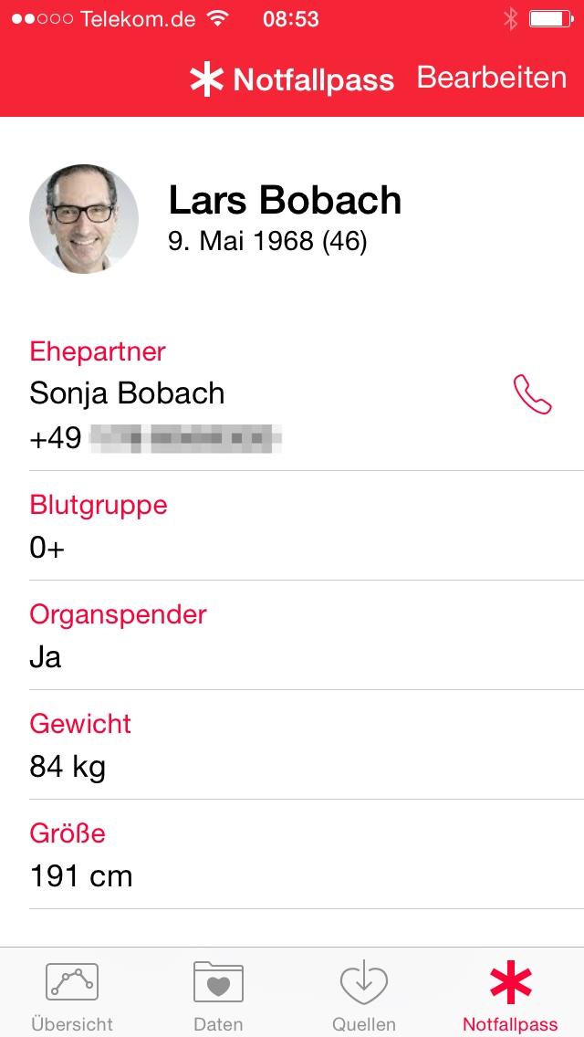 Wie nutze ich den Notfallpass im iPhone unter iOS 8