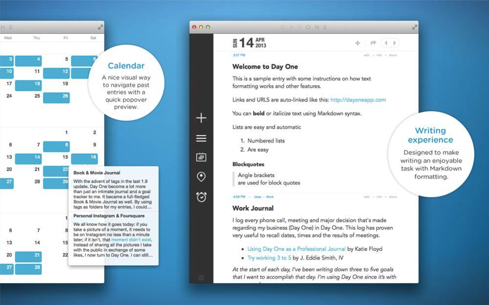 DayOne die beste Tagebuch App für Mac und iPad
