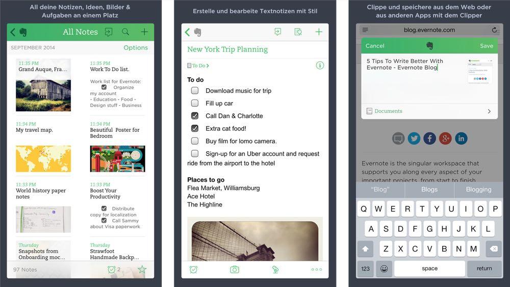 top apps für ein papierloses Büro