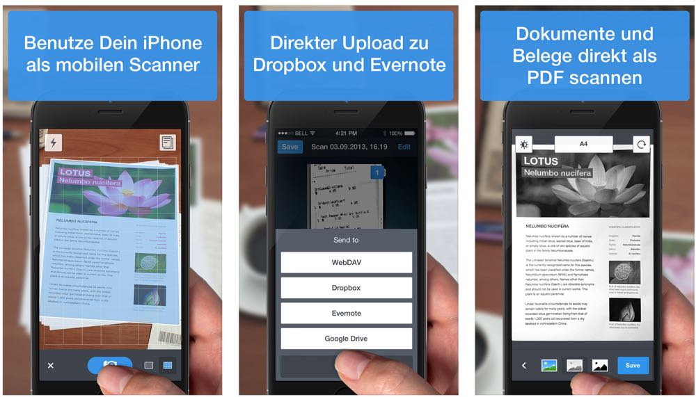 die beste scanner app für das iphone