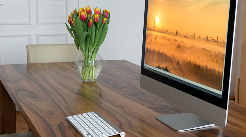 produktiver Schreibtisch