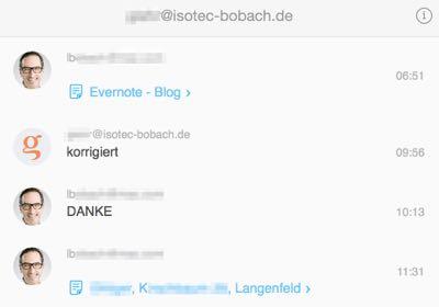 Workflow in Evrnote mit Workchat nutzen