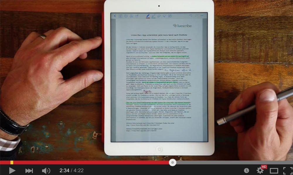 Bearbeiten von pdf-Dokumenten auf dem iPad