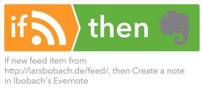 Archivierung mit IFTTT und Evernote automatisieren