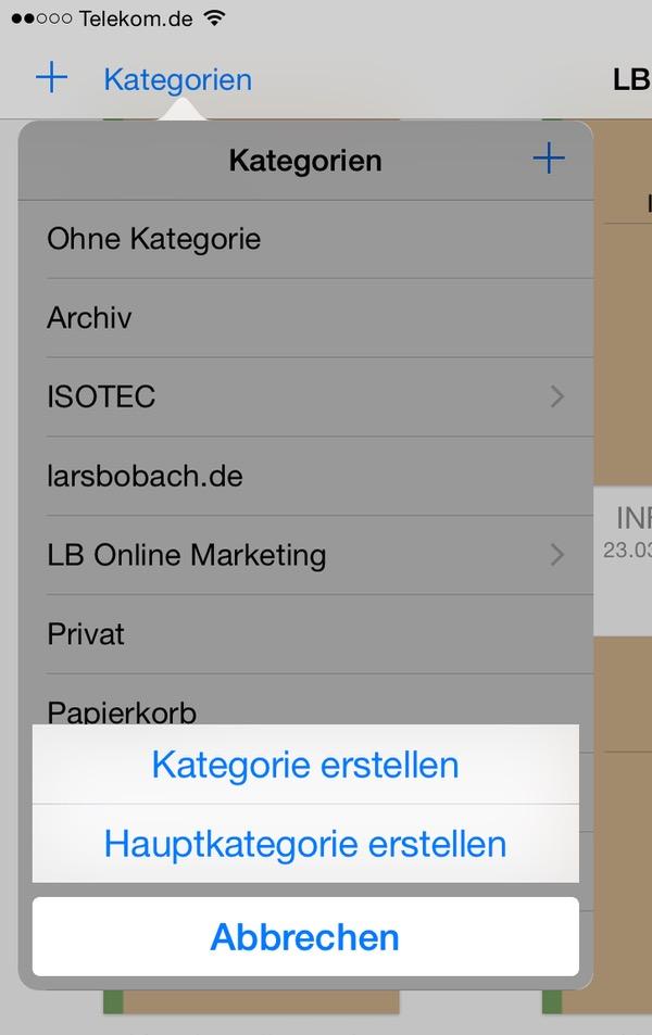 Funktion der Kategorien in GoodNotes auf dem iPad