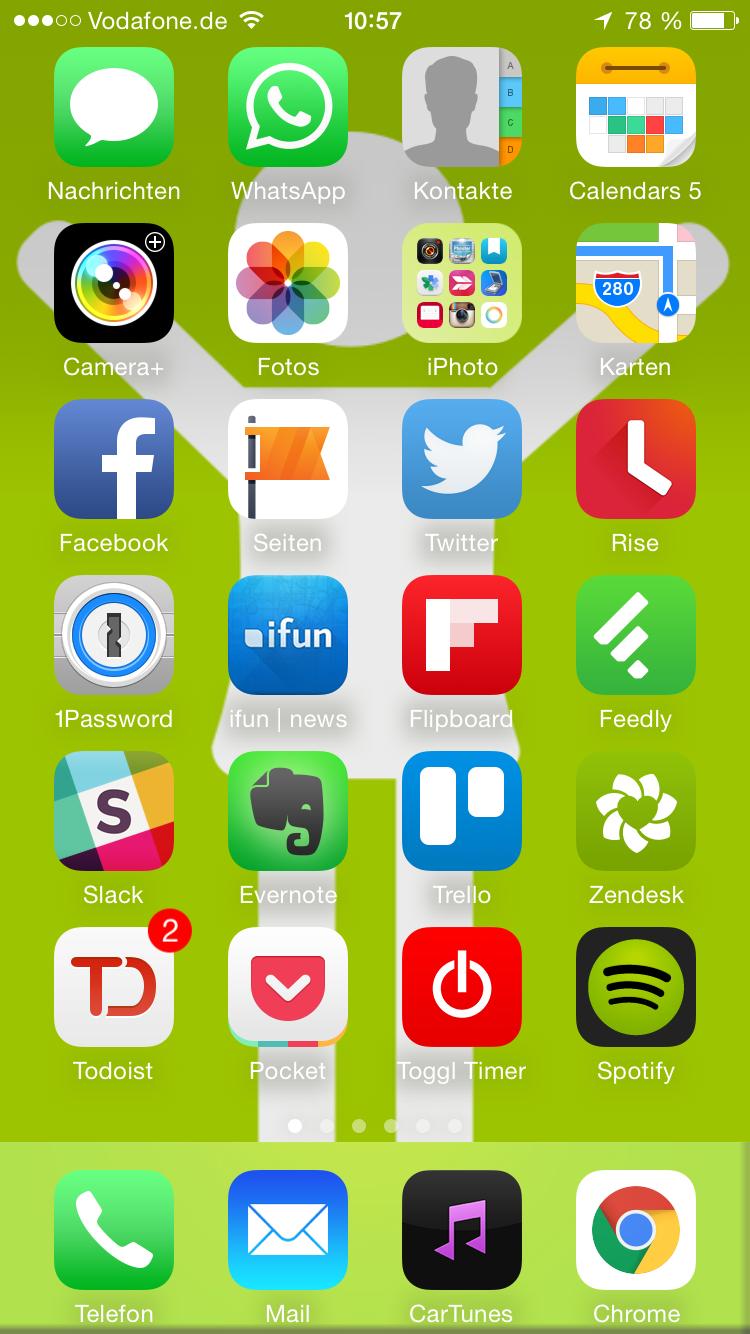 iPhone Homescreen Andre Nünninhof