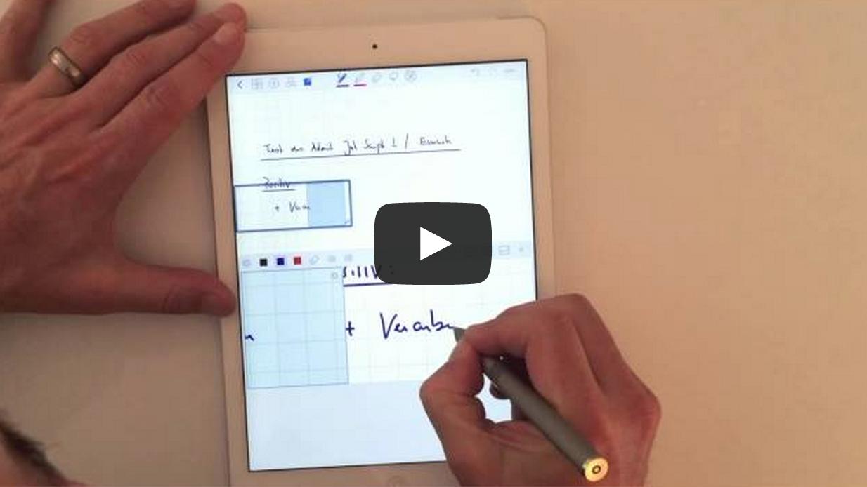 Stift / Eingabestift zum Schreiben auf dem iPad