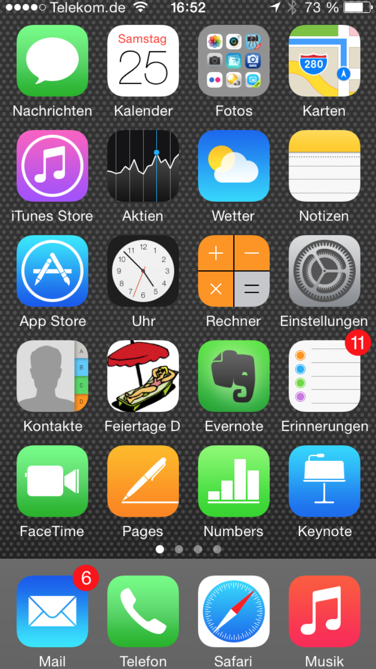 screenshot iphone 5s