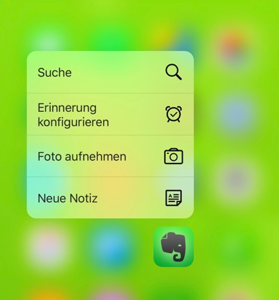 3d Touch auf dem iPhone 6s Plus