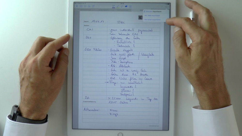 Papierloses Büro: GoodNotes vs Noteshelf