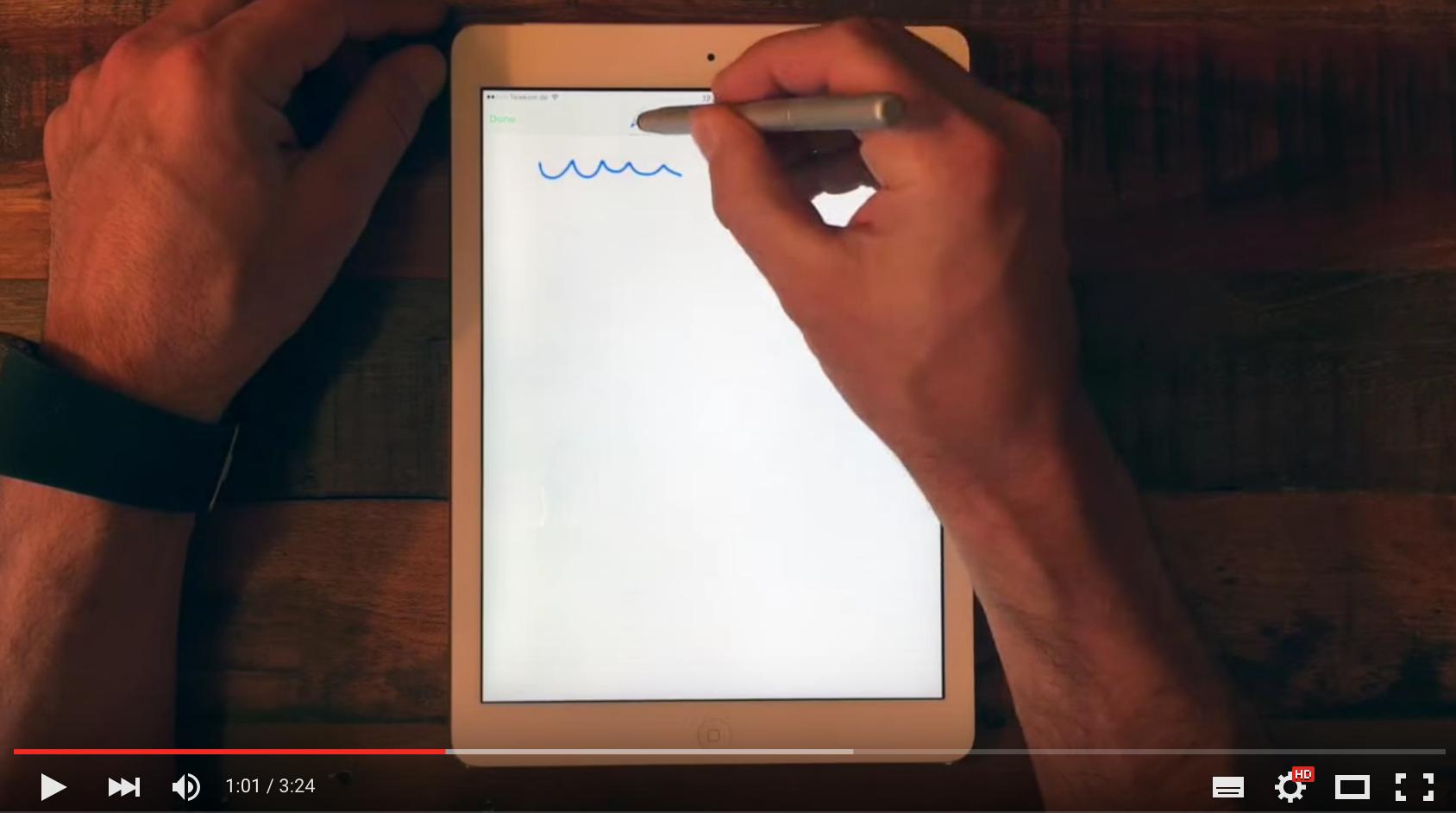 Test der Skizzenfunktion von Evernote für das iPad