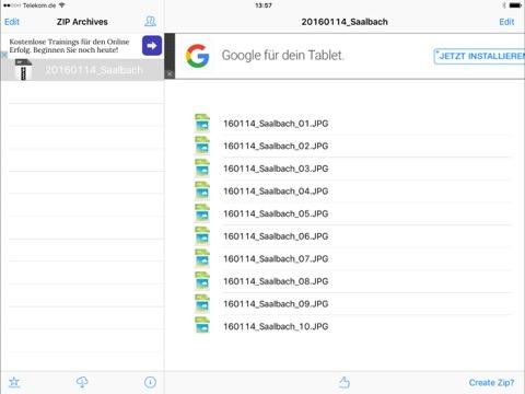zip archiv auf dem ipad entpacken und anschauen