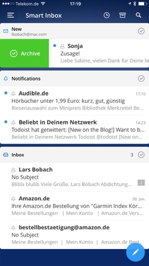 test der email app spark von readdle